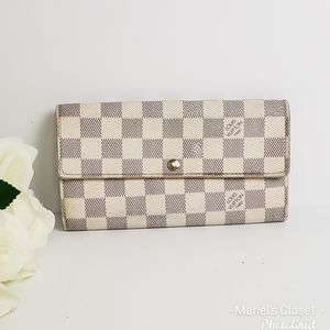 Louis Vuitton Damier Ebene Sarah wallet #1694M